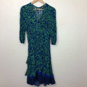 NWT Anthropologie Maeve Faux Wrap Dress 8P